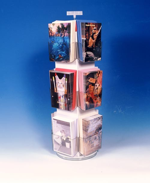 12 Pocket Revolving PLASTIC Counter Display (5 3/8 in. pockets)