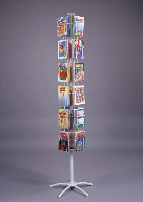 24 Pocket Revolving Floor Display (4 1/4 in. pockets)