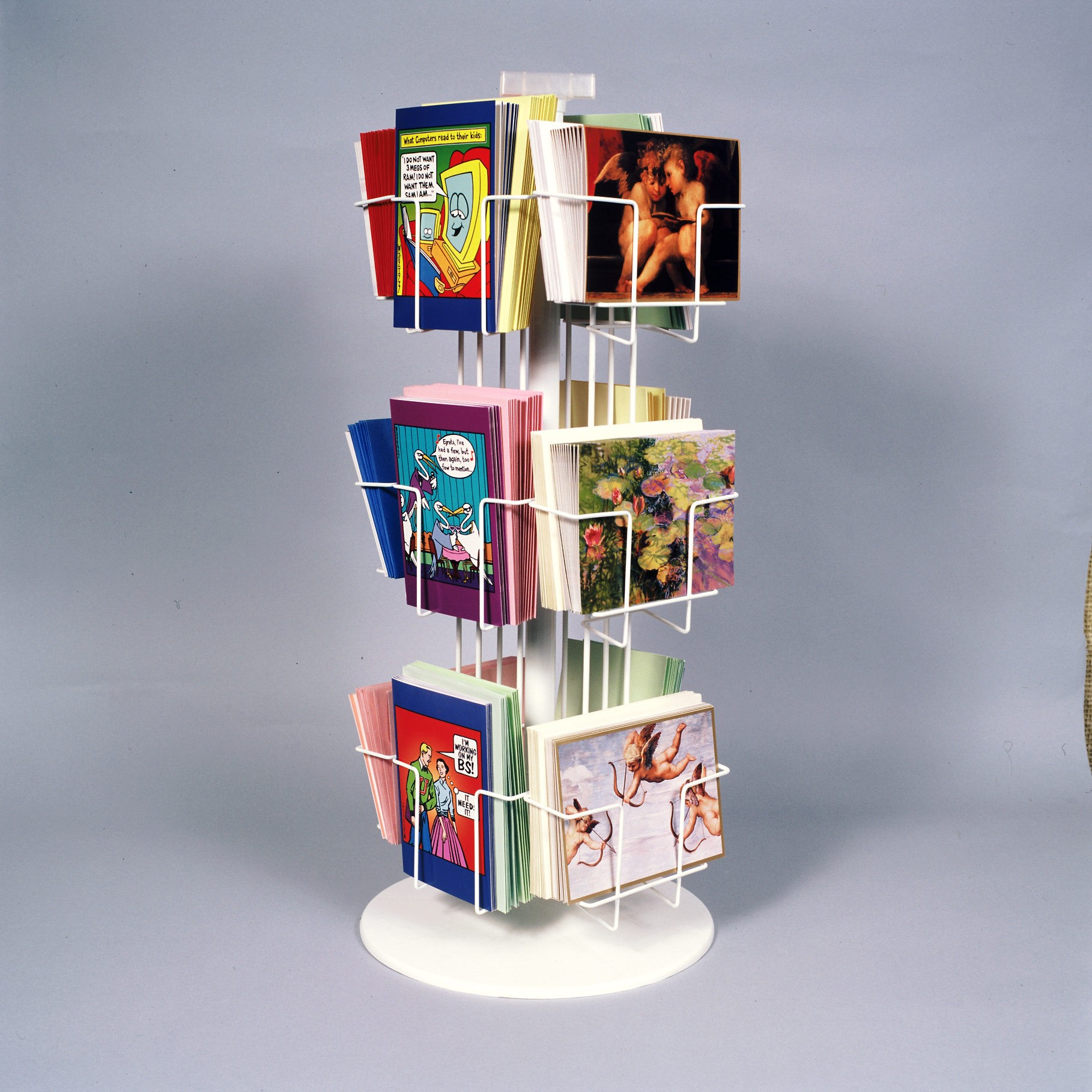 12 Pocket, 3 Tier Combination Revolving Countertop Display