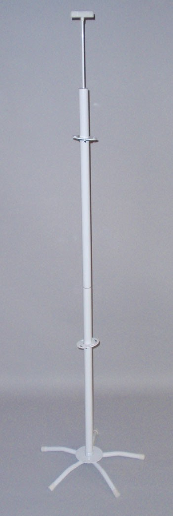 Pole and Base Assembly for Floor Displays (with 18 in. Base)