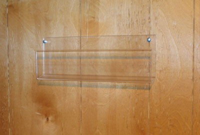 Wall Mounted 12 in. Wide Plastic Tray Display