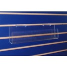 Slat Wall Mounted 16 in. Wide Plastic Tray Display